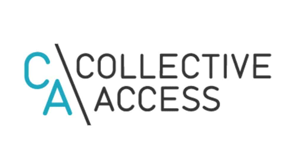 Collective access logo above section about them