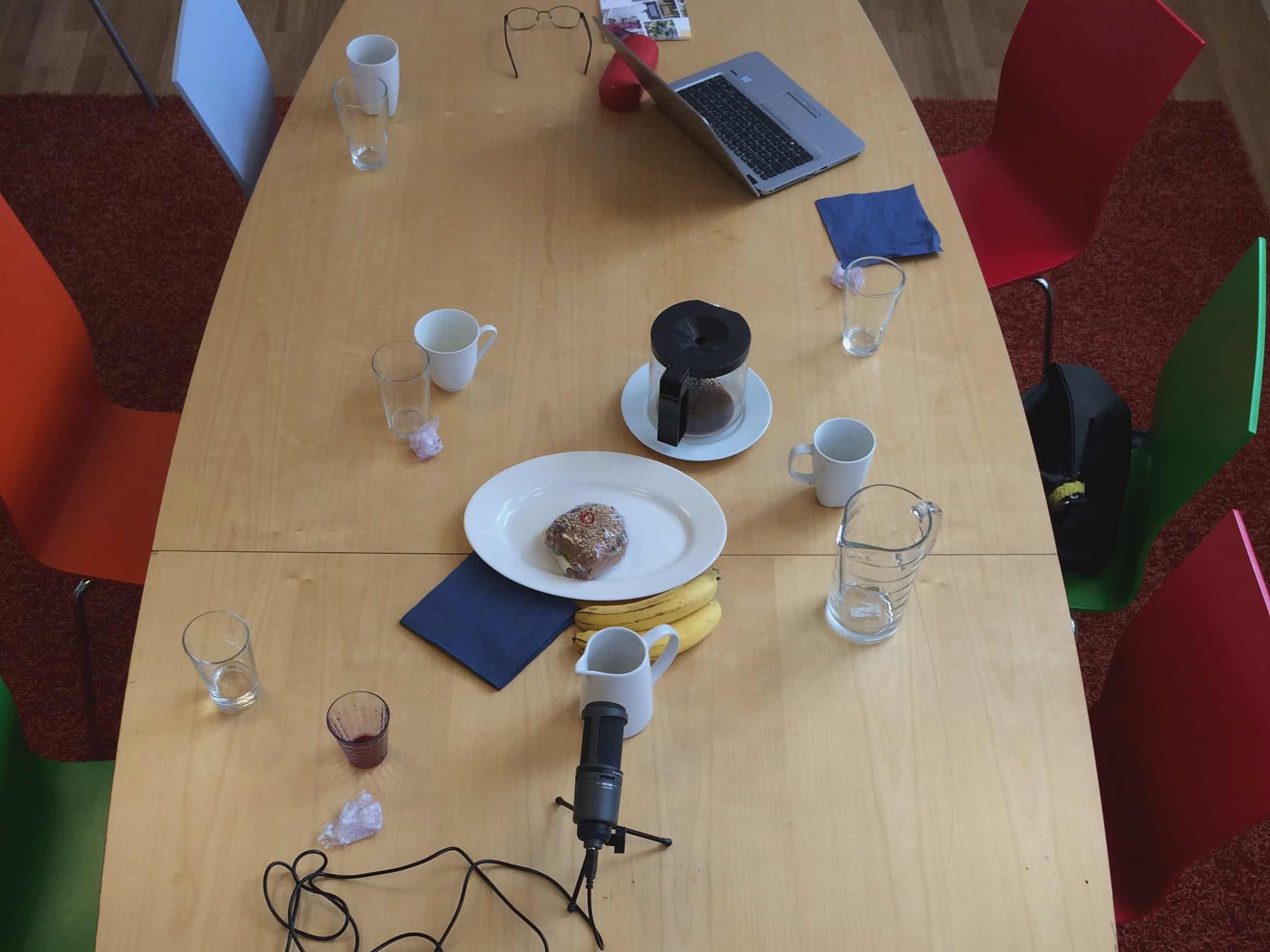 a table after a seminar