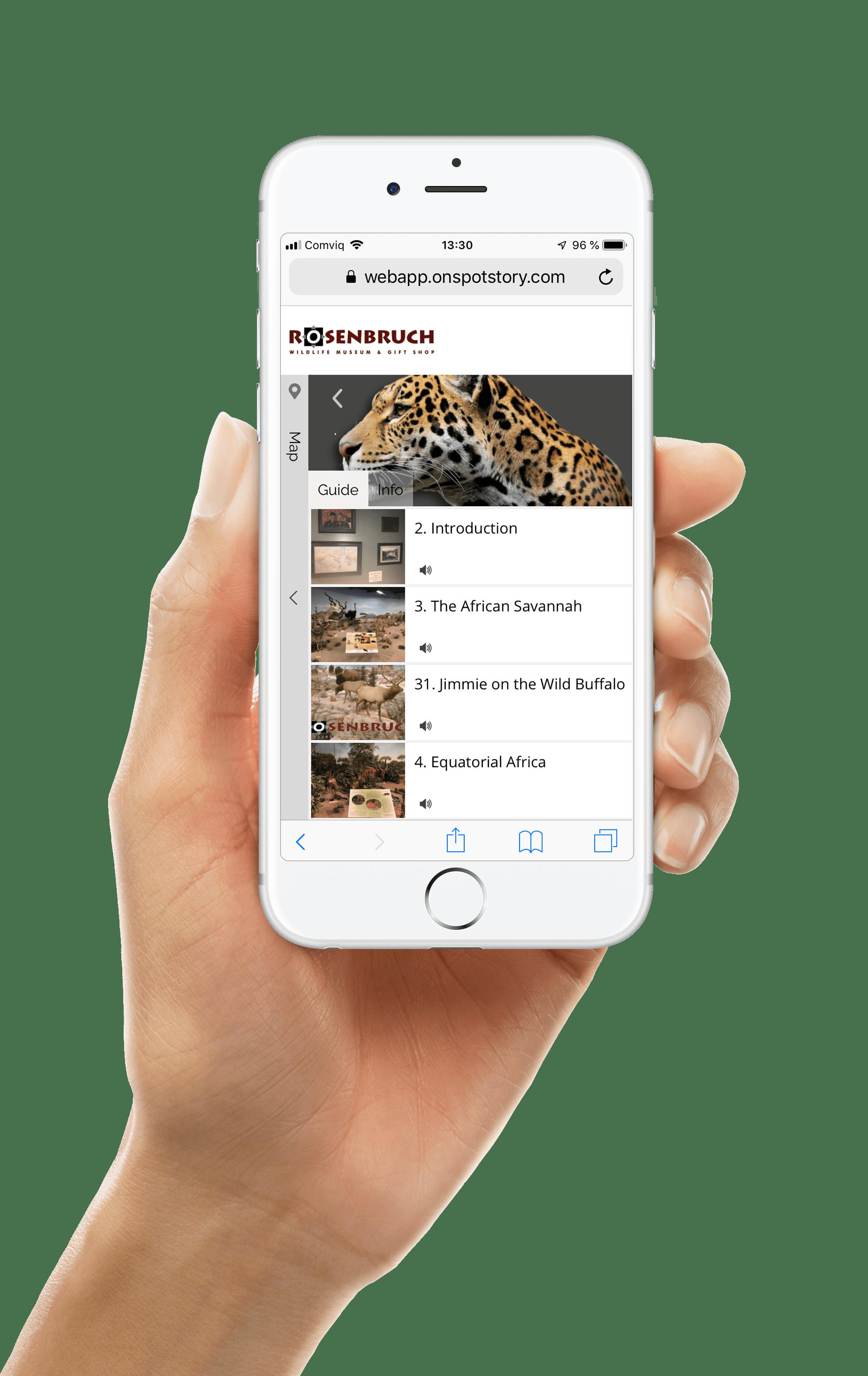 rosenbruch wildlife museum web app
