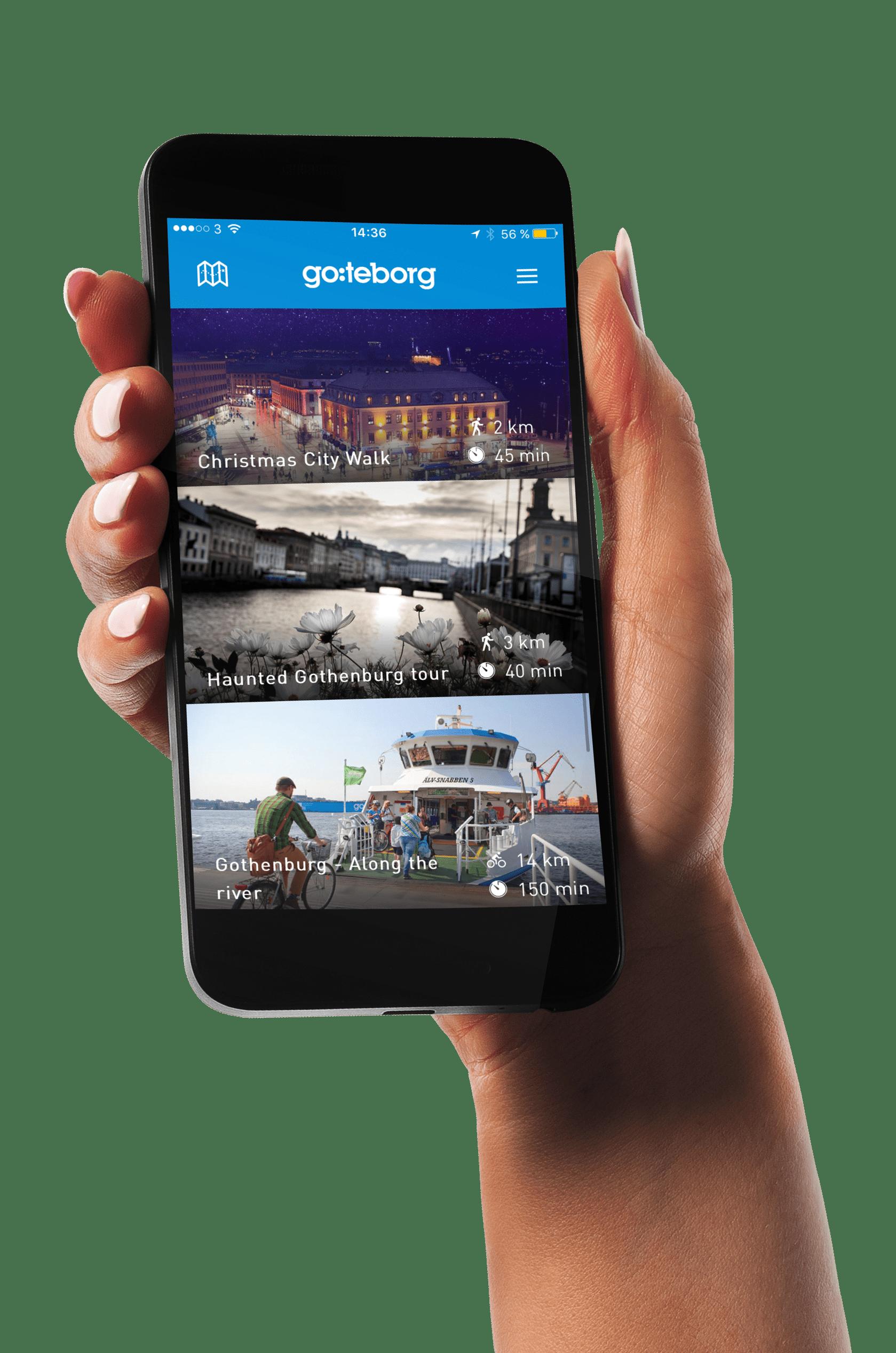 guide app in hand