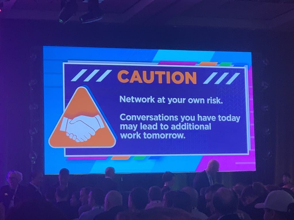 IAAPA presentation slide about networking