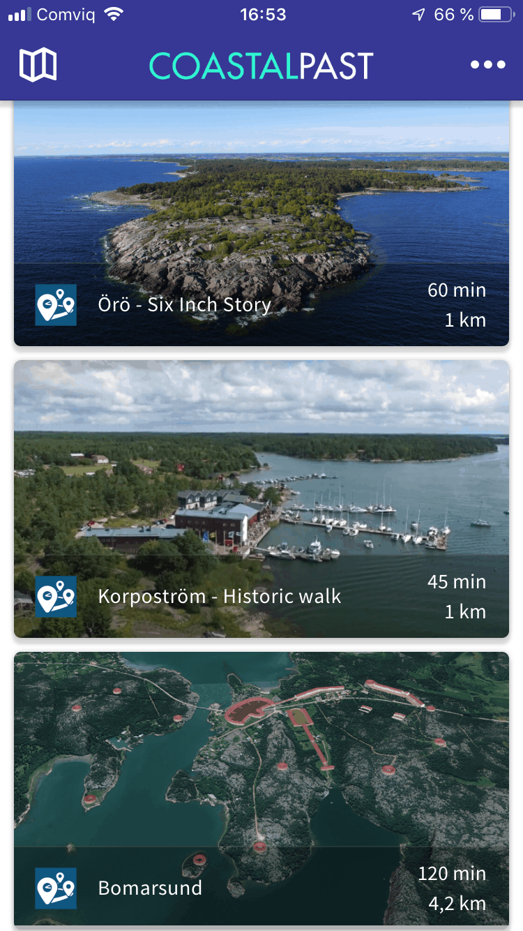 coastal past app screenshot