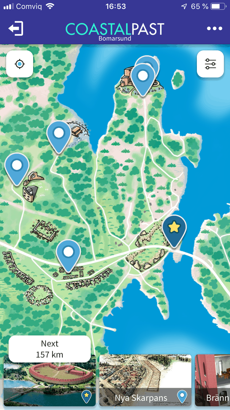 coastal past app map screenshot