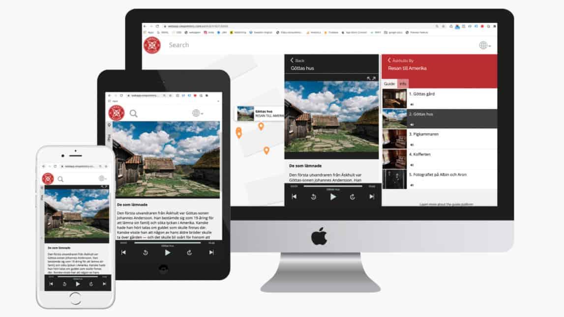 webbappar visas på mobil, surfplatta och datorskärm